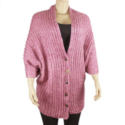 Multi-Use Oversized Scarf Wrap with Buttons Pink