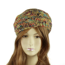 Multicolor Braided Knitted Headband Beige