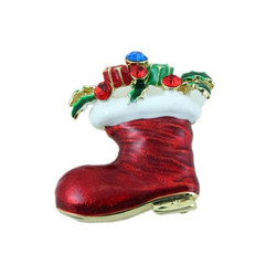 Christmas Stocking Brooch