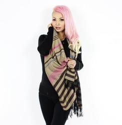 Brown Stripes Pashmina Scarf