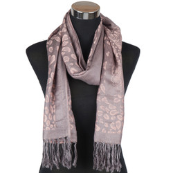 Bronze Animal Print Pashmina Scarf