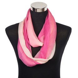 Infinity Ombre Sheer Scarf Pink