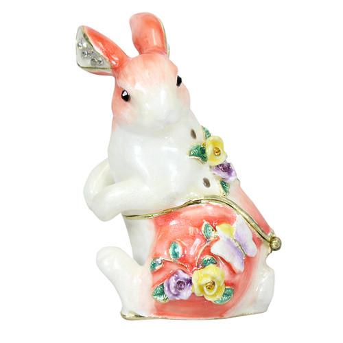 Cristiani Floral Bunny Trinket Box