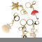 Lot of 5 Keychain Purse Charm Assorted