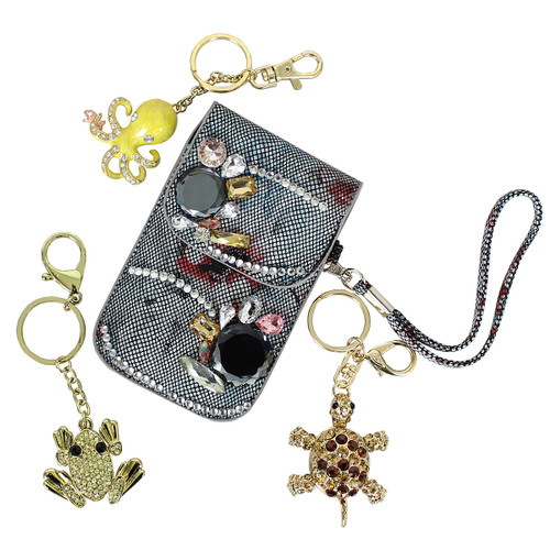 Assorted Lot of 4 Key Chain Purse Charm