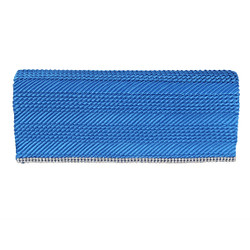 Blue Flap Clutch Purse Rhinestone Edge