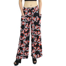 Black and Red Kaleidoscope Print Palazzo