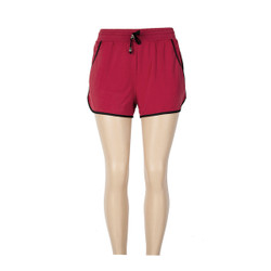 Red Active Shorts with Black trim