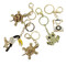 Lot of 5 Purse Charm Keychain Assorted Gold