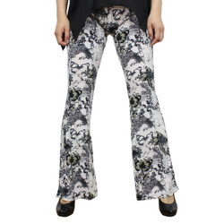 Abstract Butterfly Bell Bottoms
