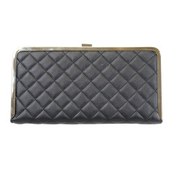 Quilted Box Clutch with Rhinestone Border