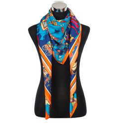 Indian ViVe Scarf Blue