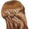 Rhinestone Assorted Set of Mini Hair Combs Silver