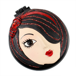 Tina Compact Mirror Popup Brush