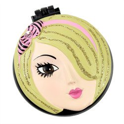 Kate Compact Mirror Popup Brush