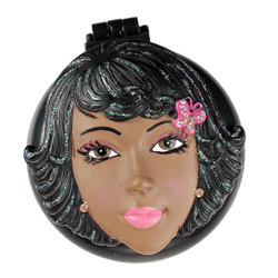 Liza Compact Mirror Popup Brush