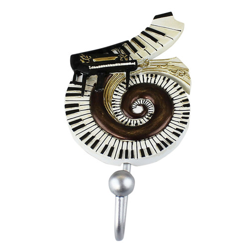 Black Grand Piano Wall Hook