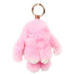 Rexy Rabbit Keychain Purse Charm Pink