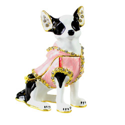Blinking Chihuahua Trinket Box