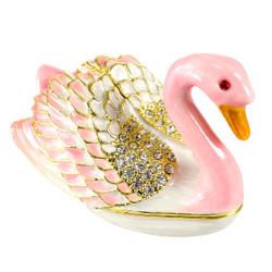 Pink Swan Trinket Box