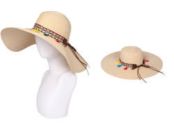 Floppy Hat with Tribal Band Beige