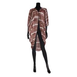 Stripped Kimono Wrap Khaki