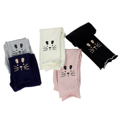 Ultra Soft Kids'Cotton Capri Kitty 5 Pack Assorted Color 3T
