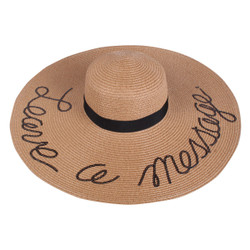 Sequined Large Floppy Straw Hat Leave a message Khaki