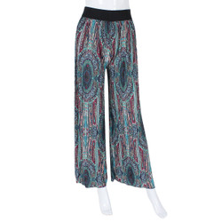 Tribal Print Pleated Wide Leg Palazzo Pants