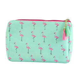 Flamingo Print Multiuse Bag Tassels