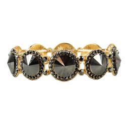 Elegant Crystal Bracelets Hematite Grey