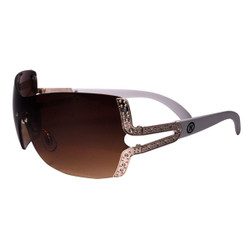 Shield Style Sunglasses with Side Detail