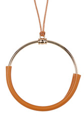 Corded Circle Pendant Necklace