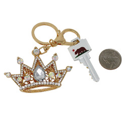 Crown Keychain Bag Charm Gold