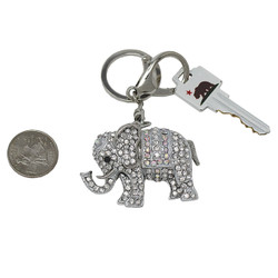 Elephant Keychain Bag Charm Silver