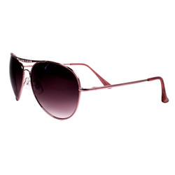 Aviator Sunglasses with Rhinestones Pink