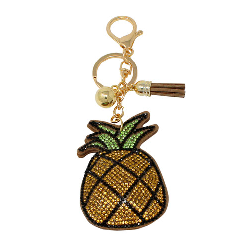 Pineapple Key Chain with Soft Padded Felt Backing