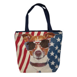 American Dog Jack Russell canvas tote bag