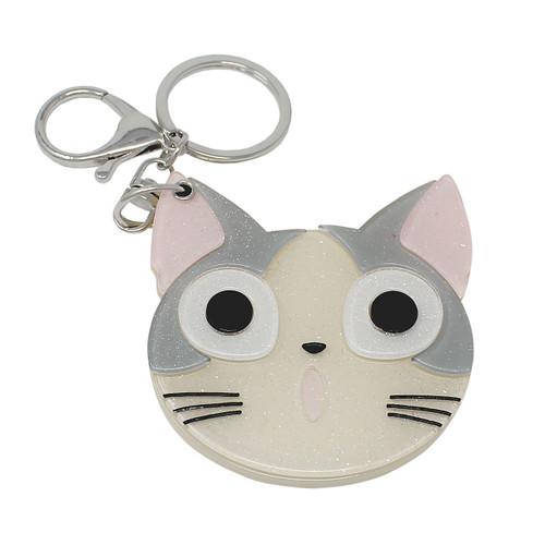 Kitty Compact Mirror Key Chain Charm