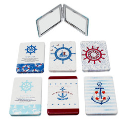Set of 6 Nautical Compact Mirror Rectangular