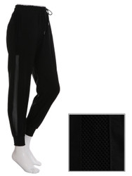 Black Jogger Side Mesh Panel Size 0-6