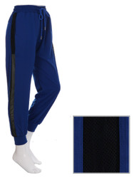Blue Jogger Side Mesh Panel Size 0-6