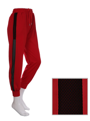 Red Jogger Side Mesh Panel Size 8-12
