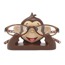 "Cute Monkey Eyeglass Stand 4.5""L"