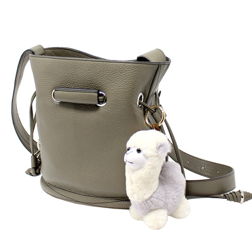 "Cute Plush Llama Keychain Purse Charm 5""H olive"
