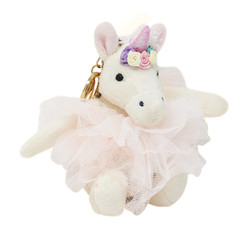 unicorn stuffed animal toy keychain