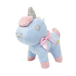 blue unicorn keychain