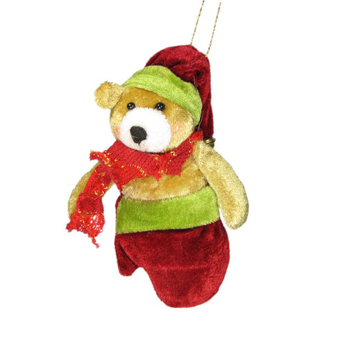 Christmas Tree Ornament Holiday Decor Teddy Bear