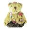 Brown Teddy Bear with Cub Wearing Skirt Plush Key Chain Purse Charm