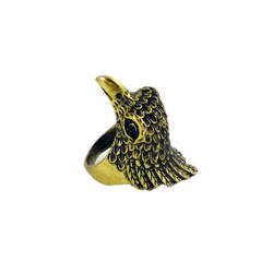Antique Gold Eagle Ring Size 8